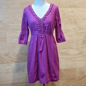 BCBGeneration | Purple Woven Tunic Top